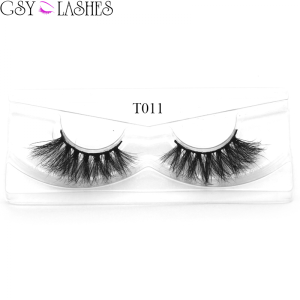 3D Mink Eyelashes Handmade Soft False Lashes Reusable For Makeup 1 Pair Package