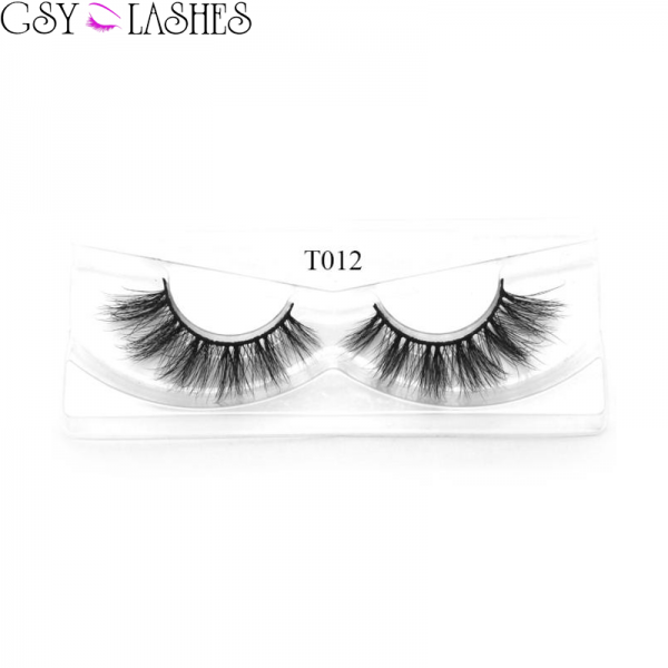 GSY LASHES False Eyelashes Thick Wedding Event Daily Makeup Long Soft Reusable 3D Mink Lashes