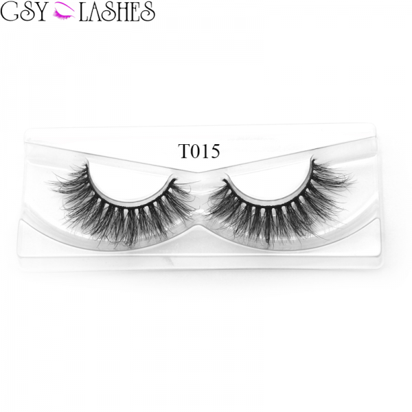 100% Handmade Siberian Mink False Eyelashes, Thick Long, Natural Look Fake Eyelashes With Box