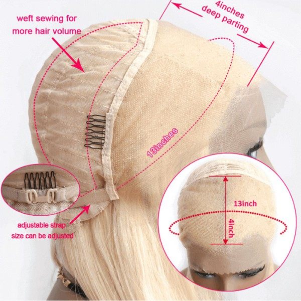 Body Wave Transparent Lace Frontal 613 Wigs 100% Human Hair For Women