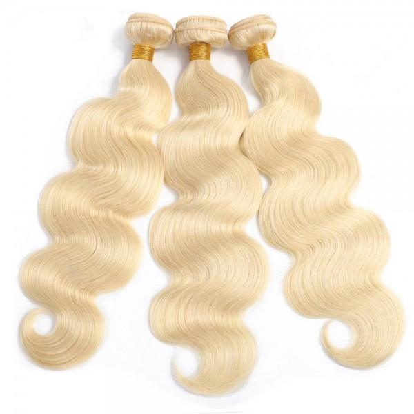 body wave 613 bundles 30 inch blonde human hair bundles for sale
