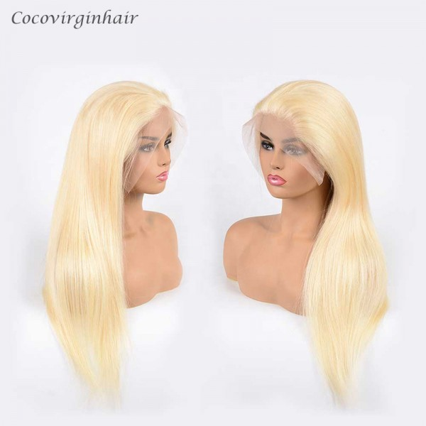 613 Blonde Straight Hair Lace Front Wigs Long Straight Blonde For Women