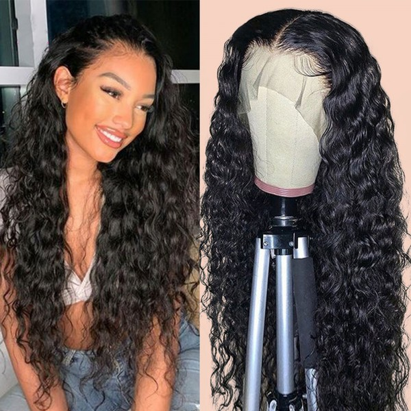 deep curly lace front wig high quality human hair 14inch-30inch