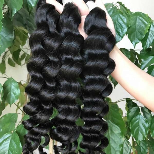 Deep Wave Hair Bundles Raw Hair Bundles Raw Virgin Cuticle Aligned Hair Weave Human Hair Extension