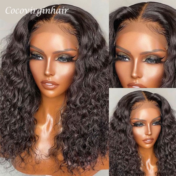 deep wave 13x4 lace frontal wigs with short medium and long length