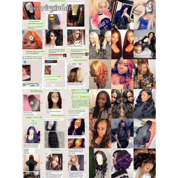 deep wave 100% brazilian human hair lace wig 13*4 transparent lace front wigs