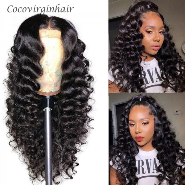 loose wave  human hair lace front wig high quality density 150% 180% 14inch 30inch