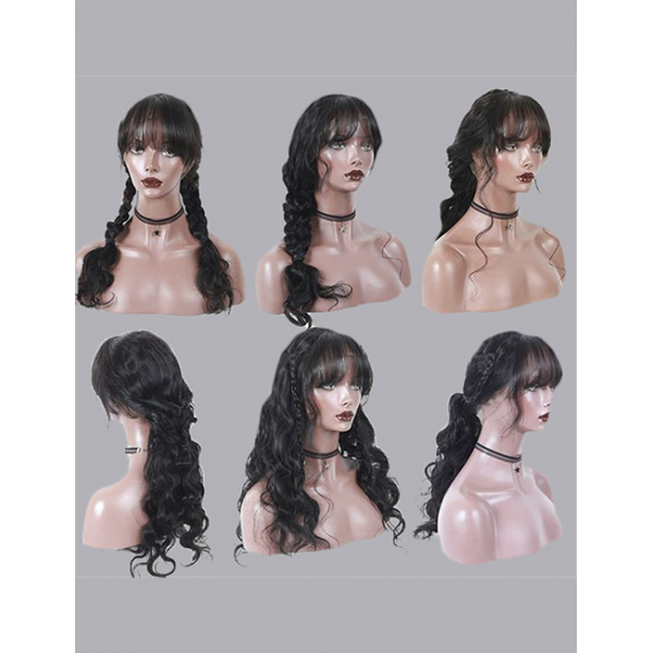 Body Wave  Pre Plucked Raw human Hair 150%/180%/250% Density Unprocessed Lace Front Wig