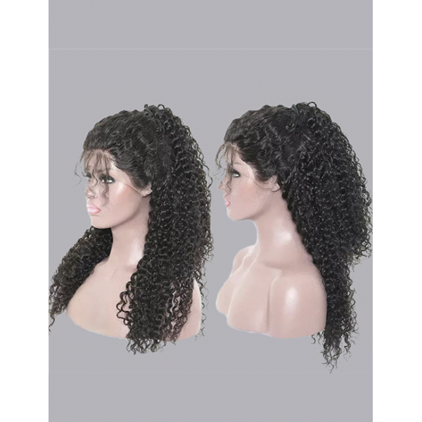 Brazilian Kinky Curly Lace Frontal Wig Pre Plucked With Baby Hair 13X4 360 Cuticle Aligned Raw Virgin Human Hair Lace Front Wigs