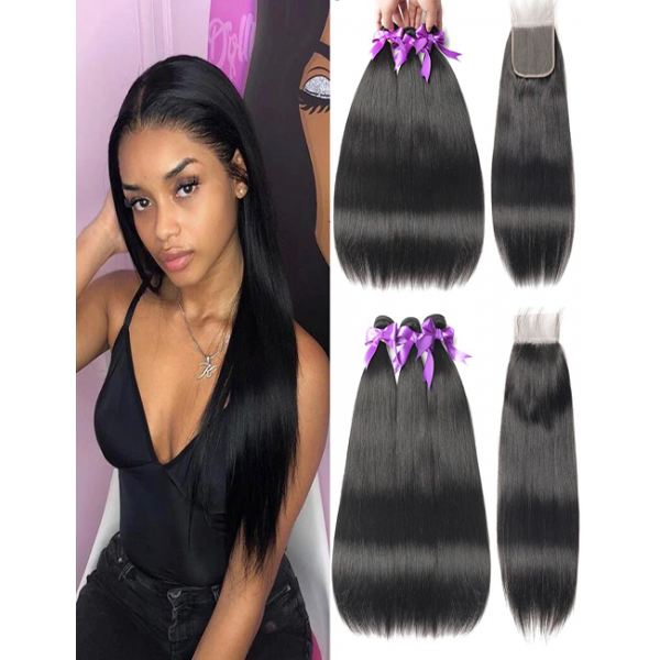 Straight Bundles Vast 100% 10A Woman Human Hair Extension Cuticle Aligned Raw Brazilian Virgin Human Hair