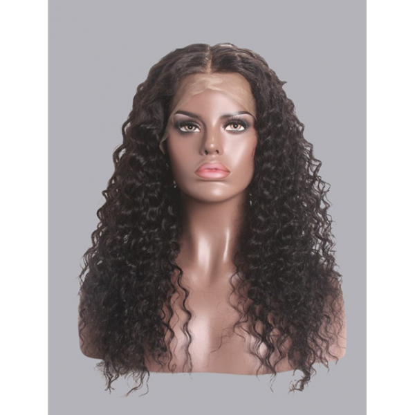 water wave frontal lace wig and brazilian human hair 150/180/250 density
