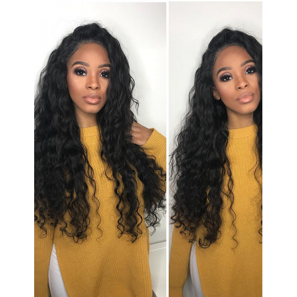Top Garde Cuticle Aligned Human Hair Deep Curly Lace Frontal Wig