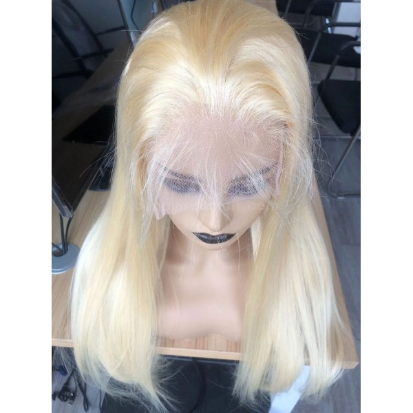 613 Transparent Lace Frontal Wigs 100% Unprocessed Virgin Brazilian Straight Human Hair 613 blonde hair
