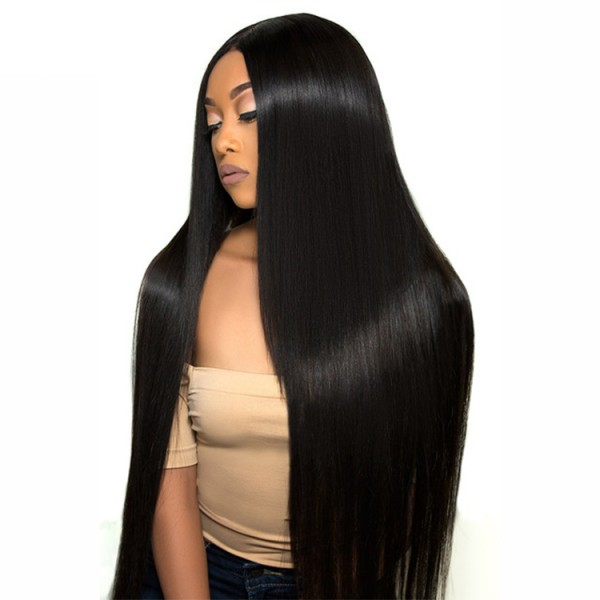 Straight Full Lace Virgin Hair Wig Raw Unprocessed Brazilian full Lace Human Hair Wigs
