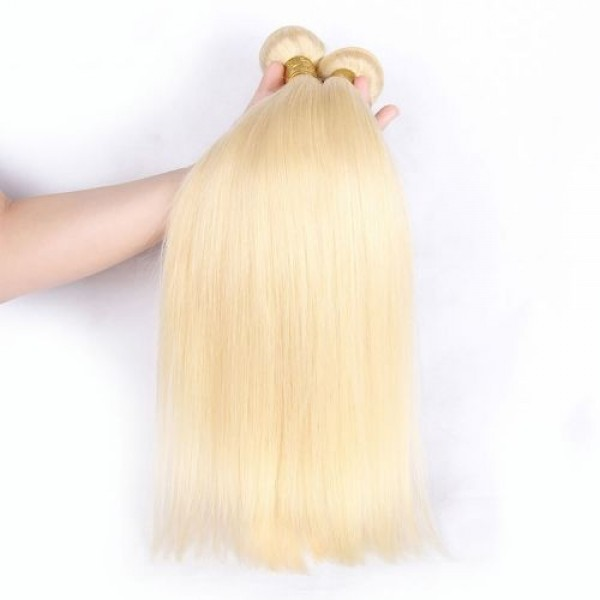 Straight Hair Bundles Wholesale #613 Brazilian Human Hair Bundles